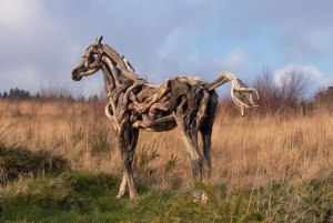 Driftwood Horse by Heather Jansch. Click for Source.