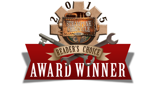 "Contributor in Sarah Hans's Steampunk World, Winner of the 2015 Steampunk Chronicle's Reader's Choice Awards for ""Best Fiction"""