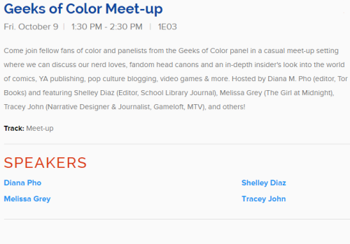 Geeks of Color Meet-up